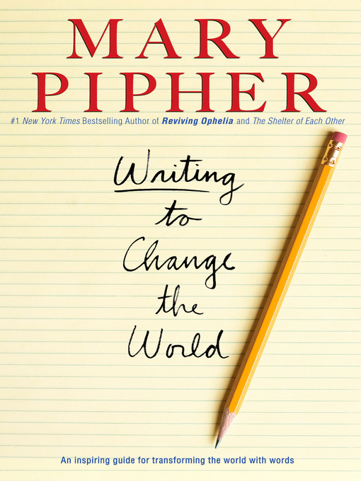Cover of Writing to Change the World