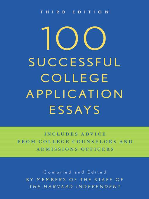 of successful college admission essay In division i college football, i succeeded when i took advantage of my opportunities i hope the university of chicago will give me an opportunity to succeed again.