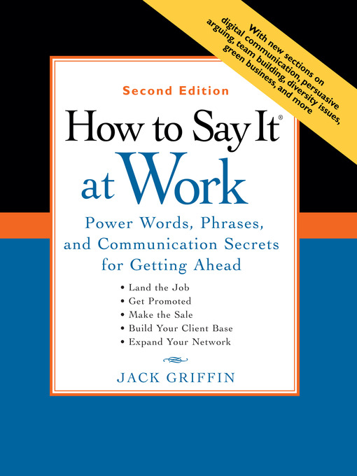 Cover of How to Say It® At Work