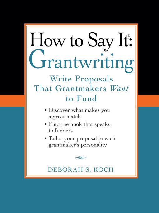 how to write a good grant proposal A good first step for new applicants is local individual professionals and organizations which have a solid background in the applicant's field of interest, and who can commit, in writing, the benefits of such a proposal.