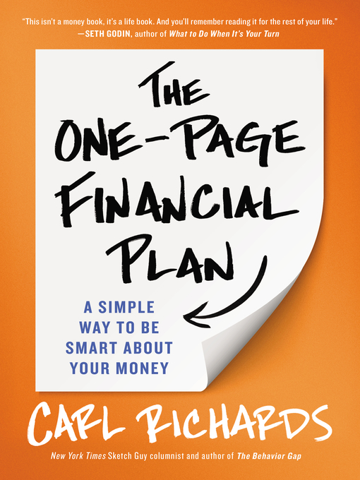 Title details for The One-Page Financial Plan by Carl Richards - Wait list