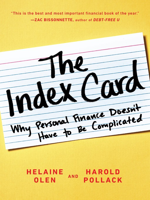 The Index Card Why Personal Finance Doesn't Have to Be Complicated