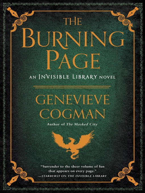 Title details for The Burning Page by Genevieve Cogman - Wait list