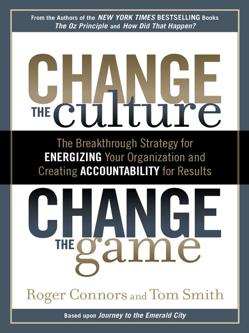 Cover of Change the Culture, Change the Game