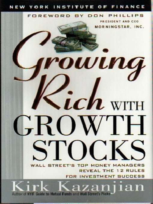 Image result for kirk kanzanjian growth stock