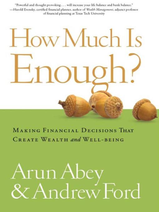 how much is enough arun abey pdf