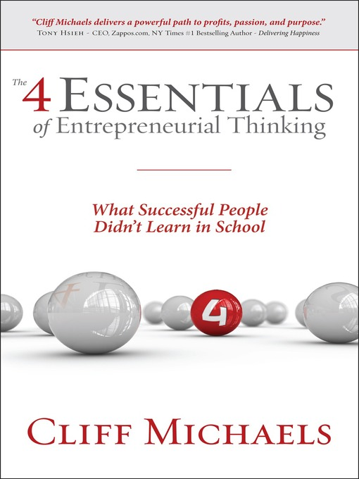 Cover of The 4 Essentials of Entrepreneurial Thinking