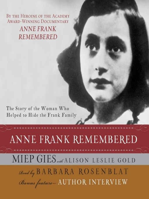Title details for Anne Frank Remembered by Miep Gies - Available