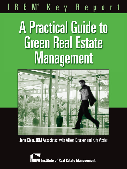 Cover of A Practical Guide to Green Real Estate Management