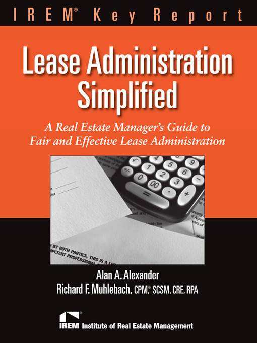 Title details for Leasing Administration Simplified by Richard Muhlebach - Available