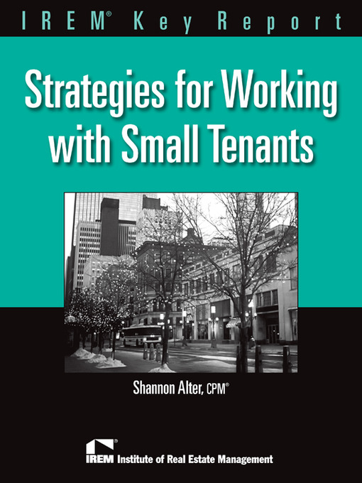 Title details for Strategies for Working with Small Tenants by Shannon Alter - Available