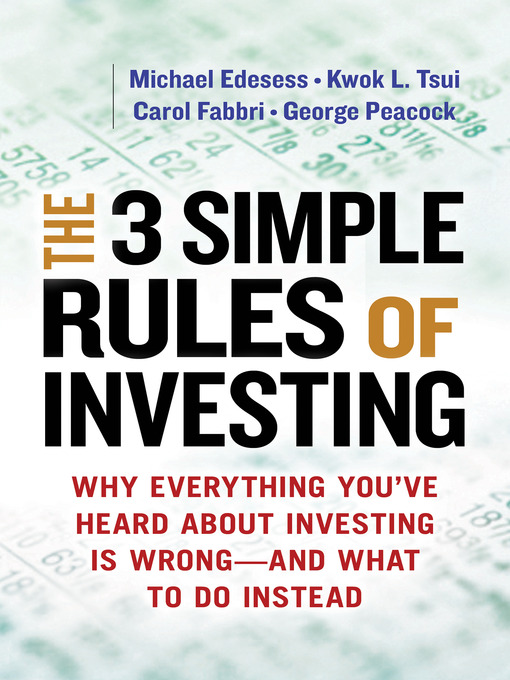 Cover of The 3 Simple Rules of Investing