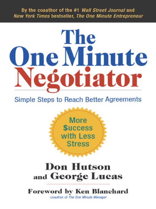 Title details for The One Minute Negotiator by Don Hutson - Available