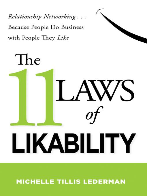 Title details for The 11 Laws of Likability by Michelle Tillis Lederman - Available