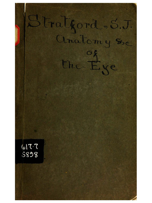 Cover of A manual of the anatomy, physiology, & diseases of the eye and its appendages