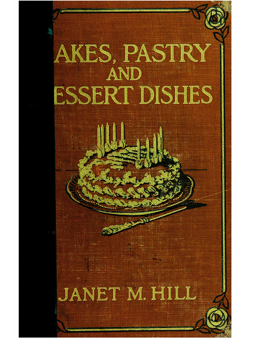 Cover of Cakes, pastry and dessert dishes