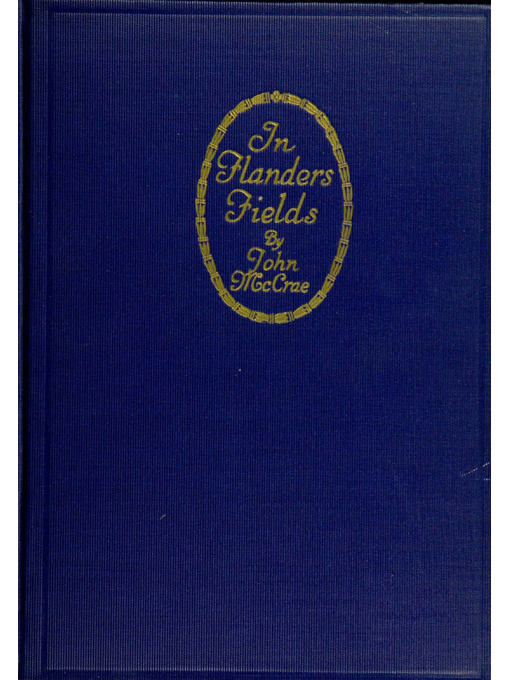 Cover of In Flanders fields and other poems