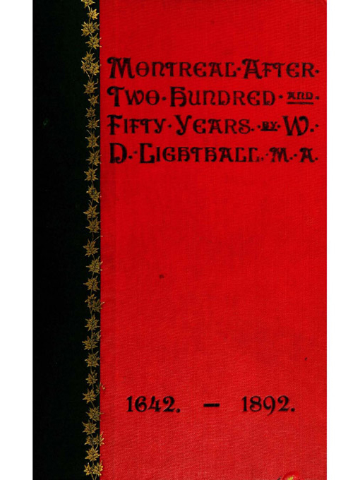 Cover of Montreal after 250 years