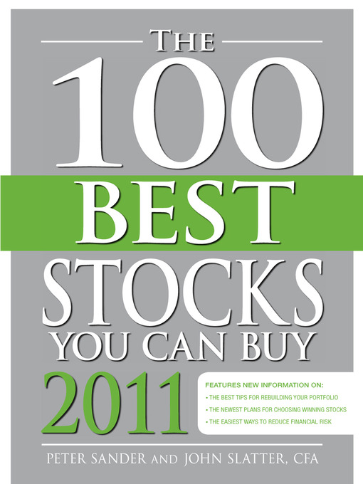 Title details for The 100 Best Stocks You Can Buy 2011 by Peter Sander - Available