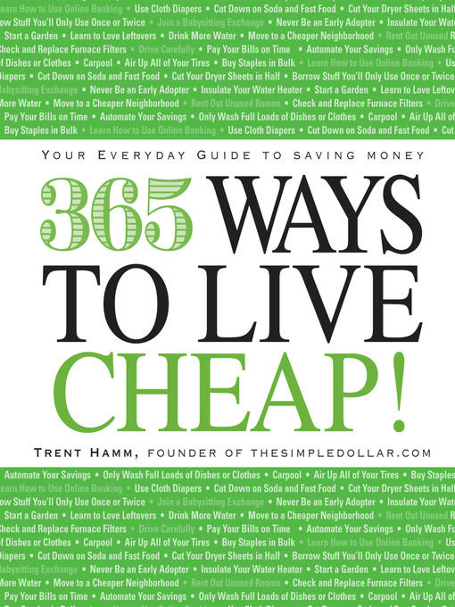 Title details for 365 Ways to Live Cheap by Trent Hamm - Available