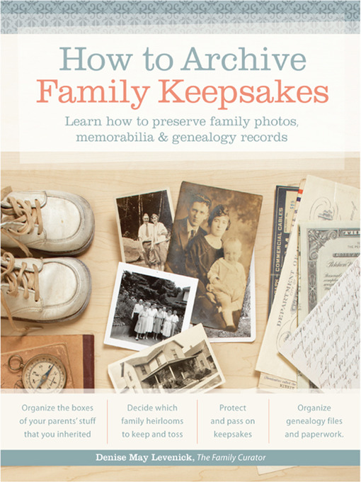 Cover of How to Archive Family Keepsakes