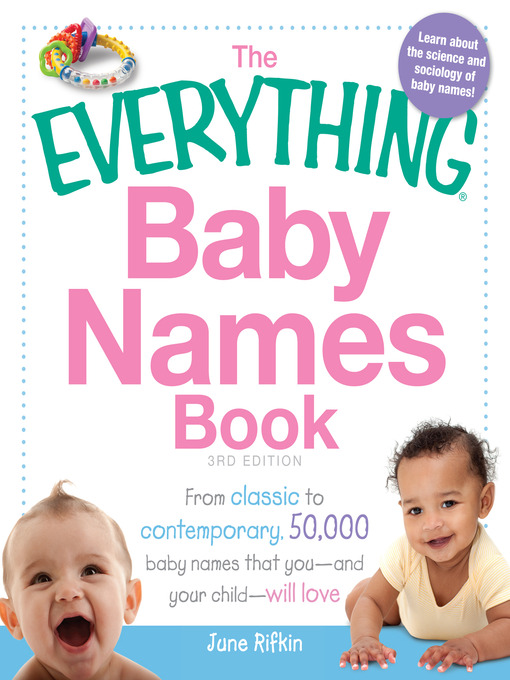 Title details for The Everything Baby Names Book by June Rifkin - Available