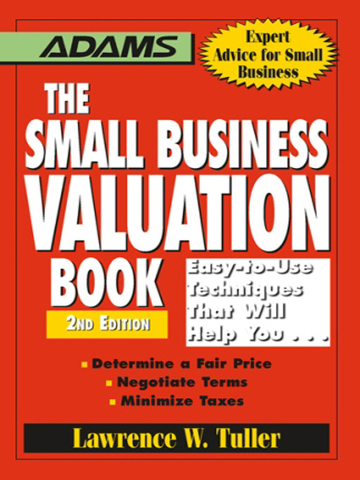 Cover of The Small Business Valuation Book