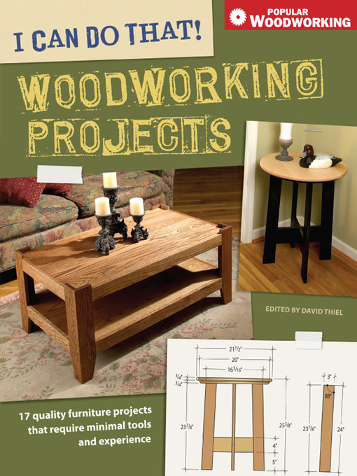 Title details for I Can Do That! Woodworking Projects by David Thiel - Wait list
