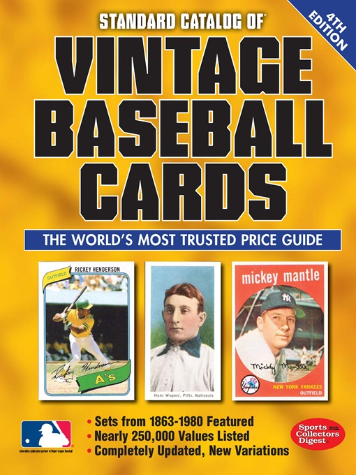 Title details for Standard Catalog of Vintage Baseball Cards by Sports Collectors Digest - Available