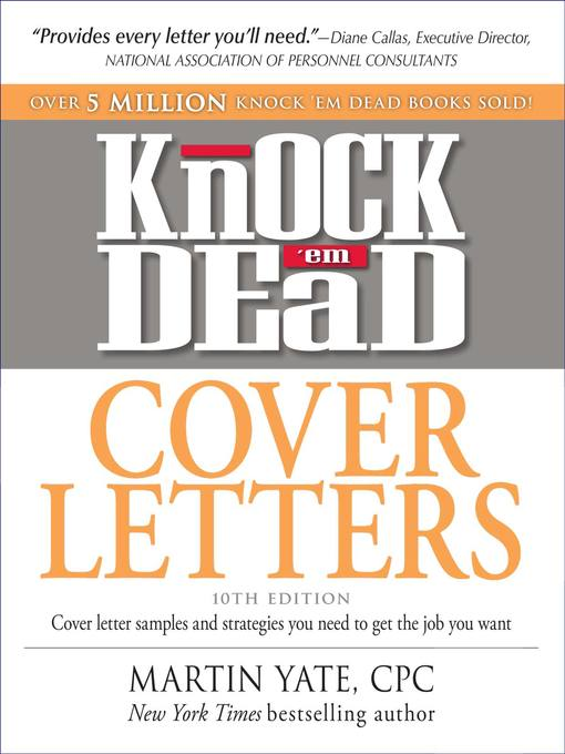 Cover image for Knock 'em Dead Cover Letters