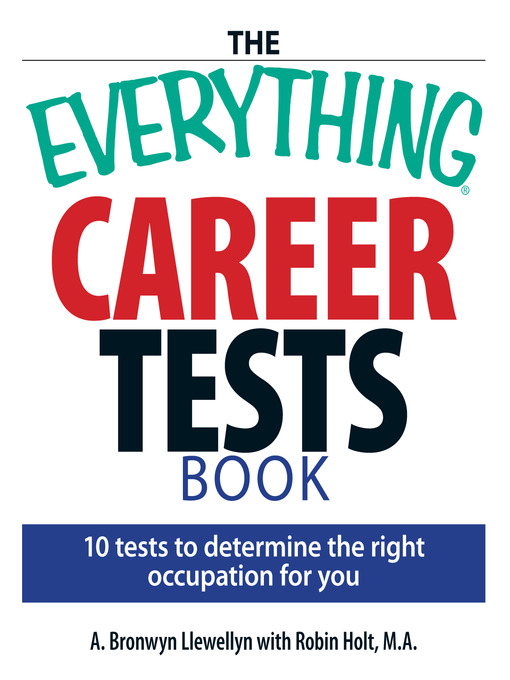 Title details for The Everything Career Tests Book by A. Bronwyn Llewellyn - Available