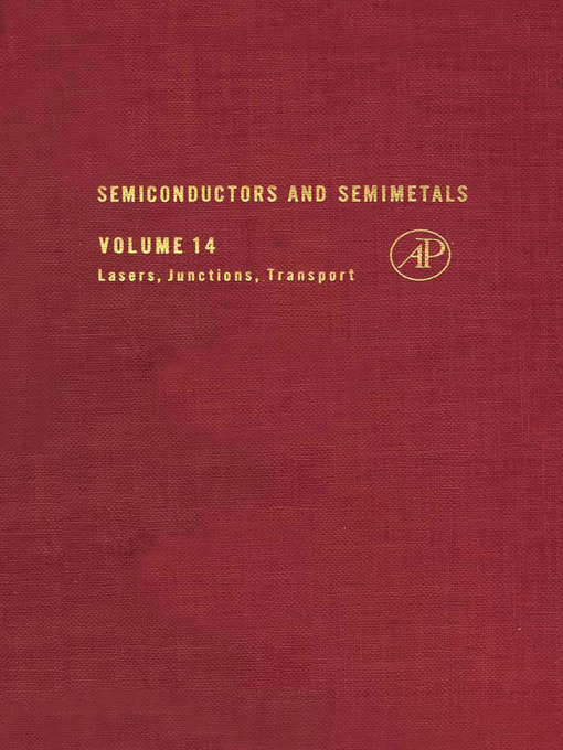 Title Details For Semiconductors And Semimetals, Volume 14 By R. K.  Willardson   Wait List
