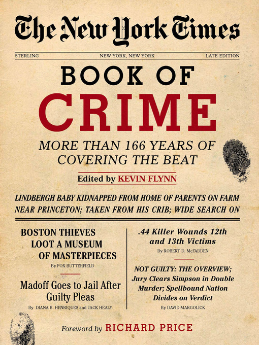 Title details for The New York Times Book of Crime by Kevin Flynn - Available