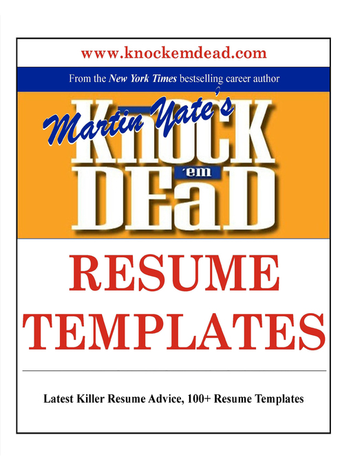 Title details for Knock Em Dead Resume Templates by Martin Yate - Available