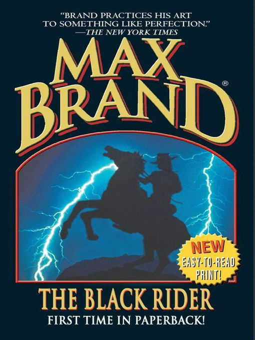 Title details for The Black Rider by Max Brand - Wait list