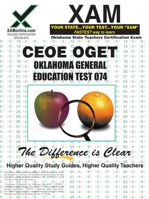 Ceoe Oget Oklahoma General Education Test 074 Ok Virtual Library