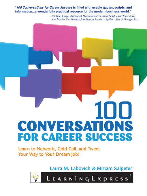 Title details for 100 Conversations for Career Success by Laura Labovich - Available