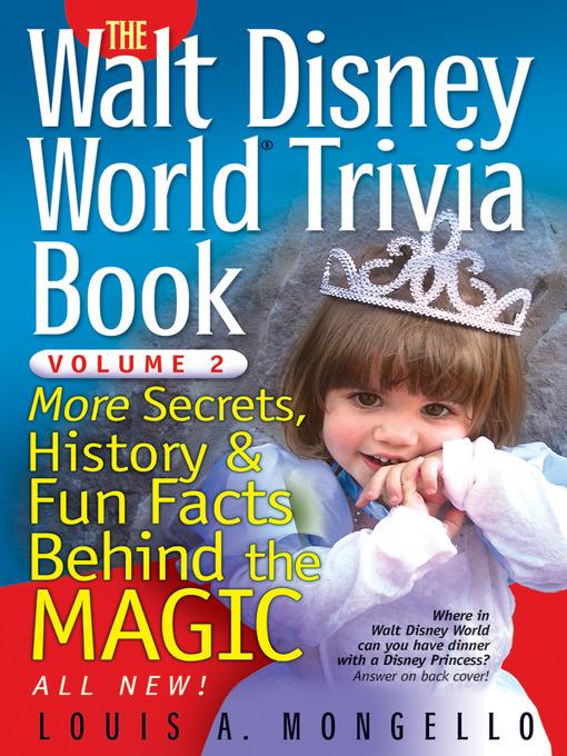 The Walt Disney World Trivia Book National Library Board Singapore
