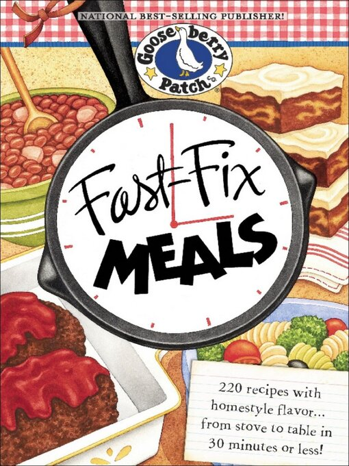 Title details for Fast-Fix Meals by Gooseberry Patch - Wait list