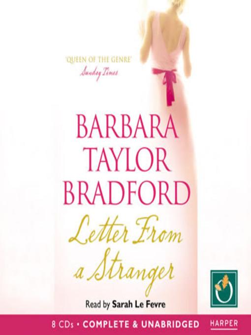 Letter From A Stranger Listening Books Overdrive