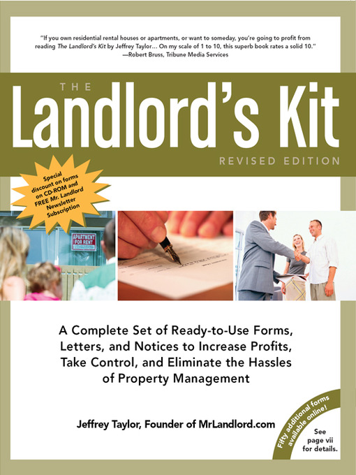 Title details for The Landlord's Kit by Jeffrey Taylor - Available