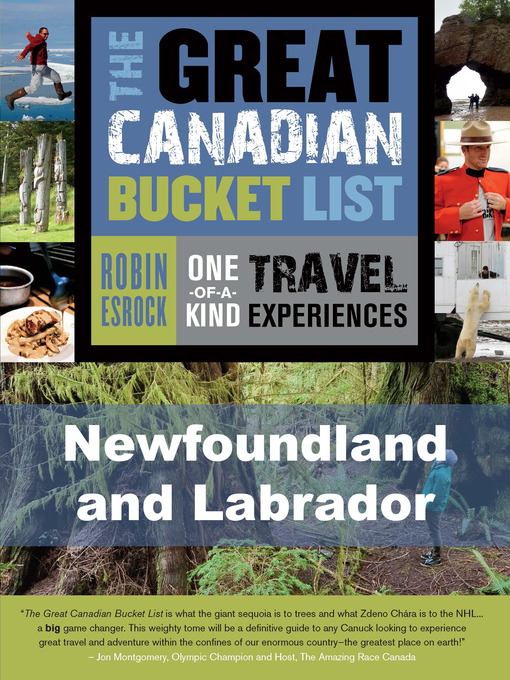 Cover of The Great Canadian Bucket List — Newfoundland and Labrador