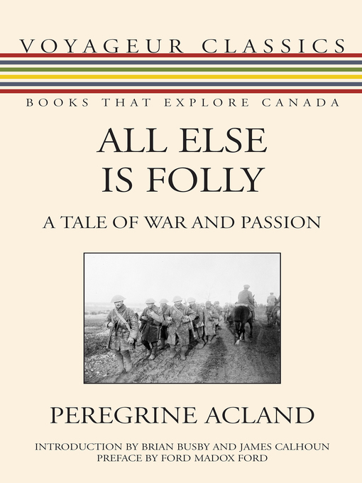 Title details for All Else Is Folly by Peregrine Acland - Available