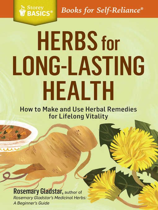 Title details for Herbs for Long-Lasting Health by Rosemary Gladstar - Wait list
