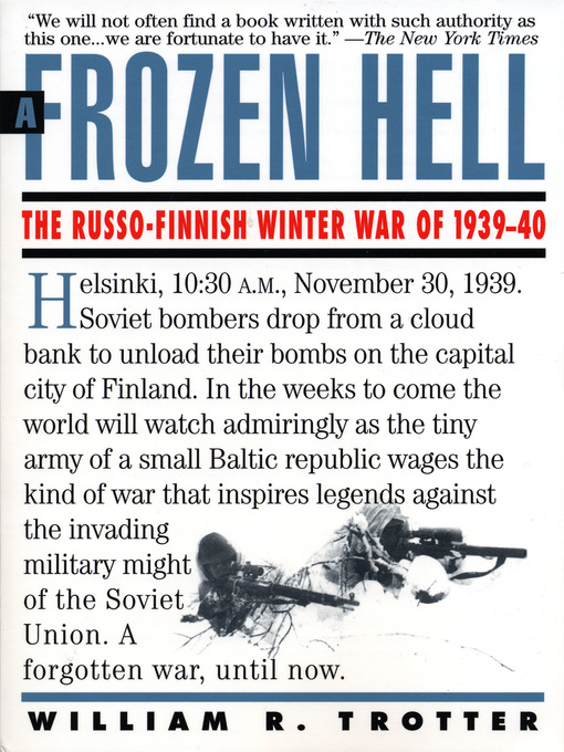 Title details for A Frozen Hell by William Trotter - Wait list