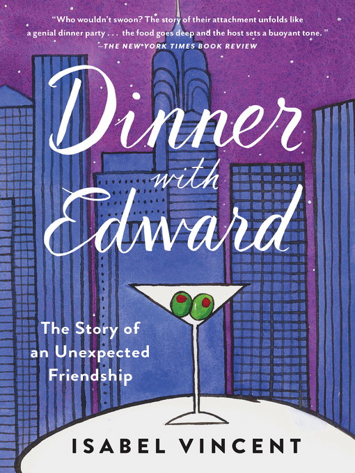 Cover art for Dinner with Edward by Isabel Vincent
