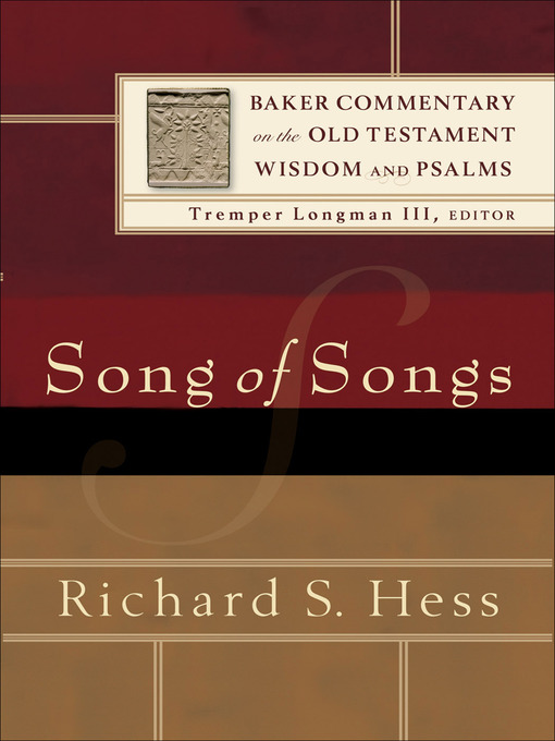 Title details for Song of Songs by Richard S. Hess - Wait list