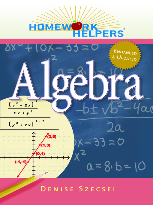 algebra homework helper Use this free algebra calculator to get algebra 1 homework help instantly.