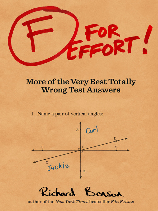 Title details for F for Effort by Richard Benson - Available