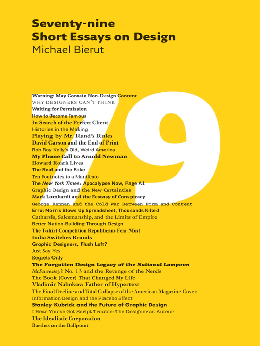 Title details for 79 Short Essays on Design by Michael Bierut - Available